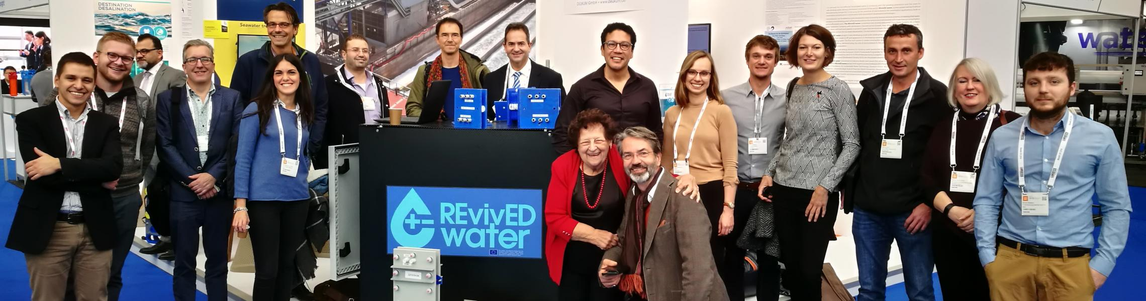 REvivED water partners at the Desalination Pavilion